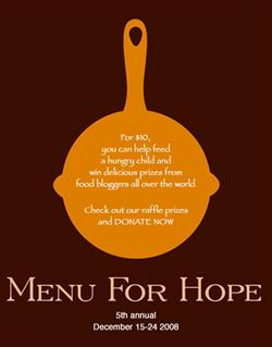 Menu For Hope 2008