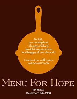 Menu For Hope 2008